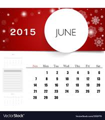 2015 monthly calendar 2015 calendar monthly calendar template for june vector image