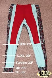 Tc Lularoe Size Chart Lularoe Part 2 Leggings Sizes Styling Tips Legging