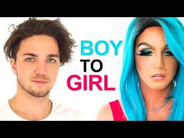 drag queen makeup boy to transformation