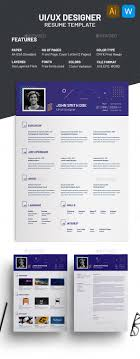 Ui Ux Designer Resume Template By Alaminmir Graphicriver