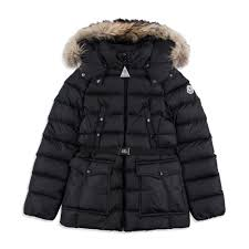 MONCLER Girls  Genet  Jacket - Black From £562 Girls hooded jacket • Soft