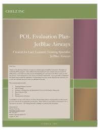 Pol Evaluation Plan Jetblue Airways Sloanes Portfolio