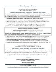 Development Resumes Land Development Manager Sample Resume Executive Resume Writer For