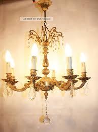 Lampe Messing Antik Frankreich Prächtiger Kristall