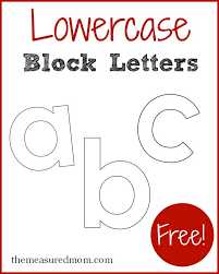 These alphabet letters and numbers are great for coloring pages and coloring sheets, crochet patterns, drawing and painting projects, svg files for. Lowercase Block Letters The Measured Mom