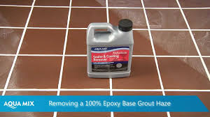 how to remove grout haze using aqua mix sealer and coating remover