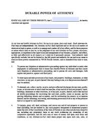 Durable Power Of Attorney Form Cool Florida Durable Financial Power Of Attorney Form Power Of Attorney