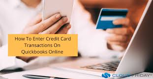 how to enter credit card transactions