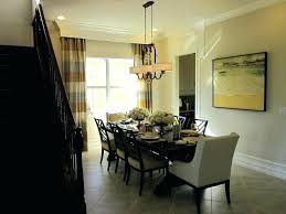 chandelier height above table over