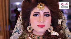 watch sensational bridal makeup and hair styling in abad done by royli salon