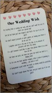 wording on wedding invitation for no gifts lovely beautiful wedding invitation wording for gifts money for