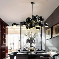 modern globe led pendant lights designer simple hanging lamps pendant lamps black white 11 13 heads hotel lighting e021 plug in hanging lamp designer