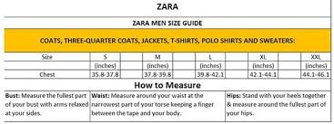 Zara Men S Coat Size Chart Fancy Zara Size Chart Mens With Size Charts Zara Jeans Size