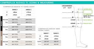 Compreflex Sizing Chart Sigvaris Compreflex Reduce Knee