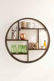 Circular Floating Shelves Wooden Circle Wall Shelf Shelves Walls and Spaces 2
