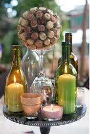 Wine themed centerpiece Woodbury's Central Park, ...