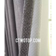 gray linen curtains grey ireland simple casual blackout affordable with gold lace p