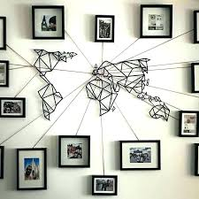 world map wall decor vinyl art large decoration framed maps for diy world map wall art