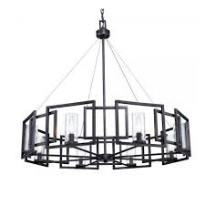 black modern chandeliers. Post Modern Black Iron Art And 8 Clear Glass Shades Chandelier 1 Chandeliers L