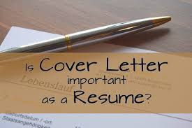 Cover Letter Important Or Not Adriangatton Com