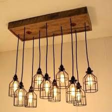 modern industrial chandelier industrial chandelier lighting cage light chandelier cage lighting industrial lighting bulbs wood modern
