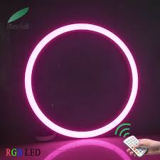 Rgb Pendant Light Hot Item Flicker Free Led Pendant Ring Light Rgb Color Changing With Remote Control