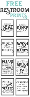 Free Printable Bathroom Art Stunning 48 Best Free Printables Bathrooms Images On Pinterest Little
