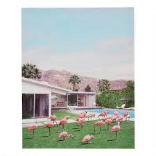 palm springs flamingos canvas wall art