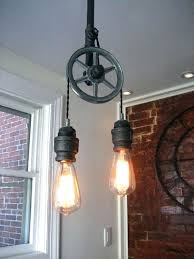 steampunk lighting. Steampunk Lighting Fixtures Light  Pulley Metal Ceiling Intended For