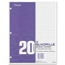 Shopokstate Mead Quad Ruled 3 Hole Graph Paper