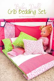diy baby doll crib bedding set the