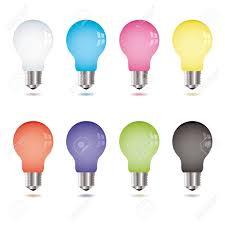 Where Can I Buy Coloured Light Bulbs Collection Of Eight Brightly Coloured Light Bulbs With Shadow