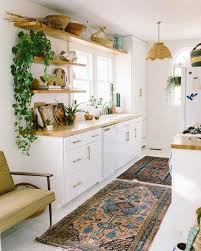 bohemian open shelving