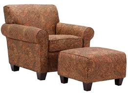 Image Stencil Trespasaloncom Paisley Print Arm Chair Ottoman Living Room Furniture