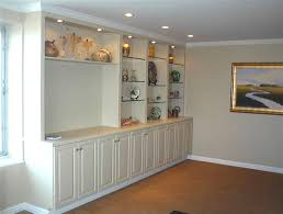 built in wall shelves