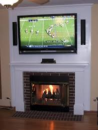 wall mount tv fireplace hide wires 100 decorate