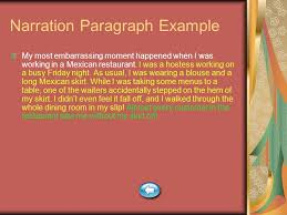 paragraph essay types ppt video online 11 narration paragraph example my most embarrassing moment