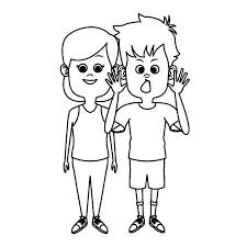 かわいい子供たちの友人漫画アイコン ベクトル イラスト グラフィック デザイン