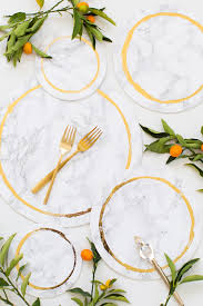 decorative diy marble plates sugar and cloth weddings entertaining