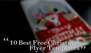 10 Best Free Christmas Flyer Templates Thedesignblitz