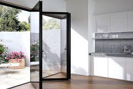 internal folding glass doors reversible design flush glazing internal or external internal frameless glass bifold doors