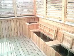 outdoor deck bench storage brilliant decking seats adding box plans