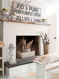 rustic wall decor ideas painted brick fireplacesfireplace