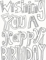 You can select the image and save it to your smart device and desktop to print and color. Birthday Coloring Pages Doodle Art Alley