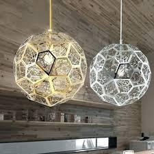 gold geometric pendant light geometric light modern geometric hollowed out globe 1 light pendant light chrome gold geometric pendant light
