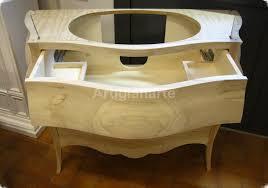 Bagno Legno Marmo : Mobile bagno bombato artigianarte
