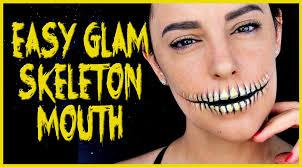 easy skeleton mouth makeup tutorial silvia quiros