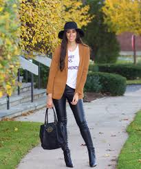 the universally flattering way to wear leather pants