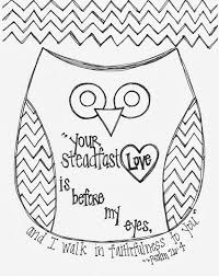 Small Picture Free Valentines Day Bible Verse Owl Coloring Page Religious Ed