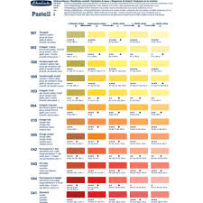 Rembrandt Pastel Color Chart Schmincke Soft Pastel Colour Chart